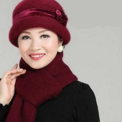 Brown Hat for Women Winter Hat Flor..