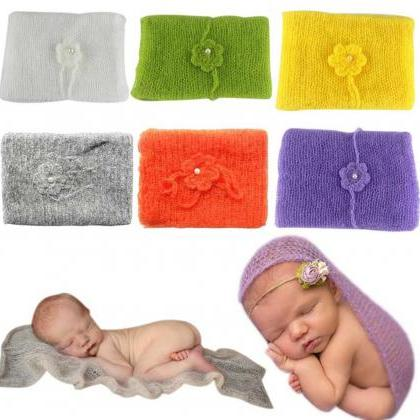 Baby Props Mohair Wraps with Matchi..
