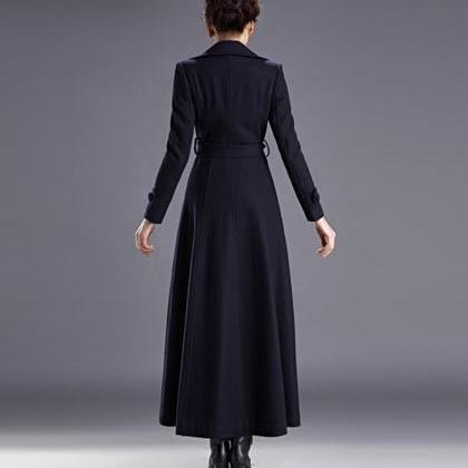 Navy Blue Coats for Women Outerwear..