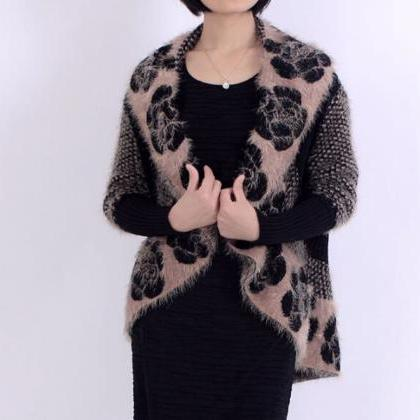 Black Vest Cardigan Women's Crochet..