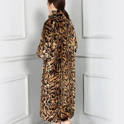 Leopard Coats Autumn Windbreaker Lo..