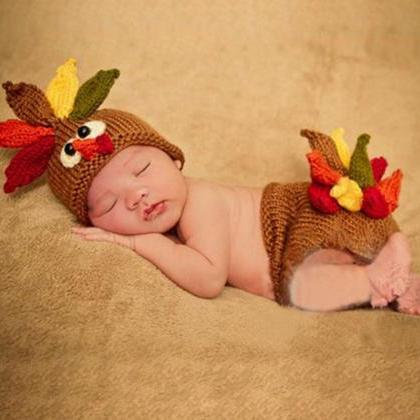 Thanksgiving Props for Newborn Baby..