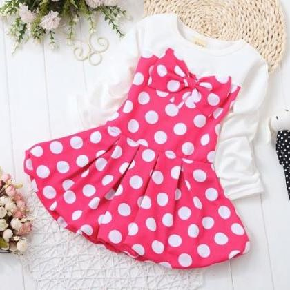 Pink Tutu Dress Easter Outfit Polka..