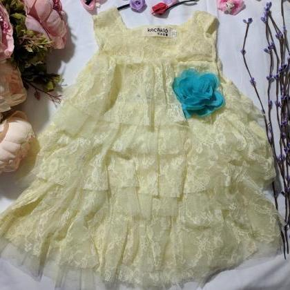 Ready to Ship Yellow Dress for Baby..