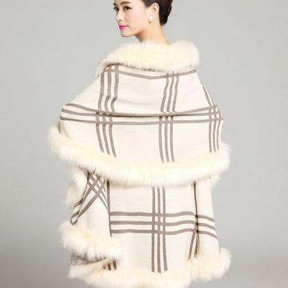 Shawl for Women Thick and Warm Crea..