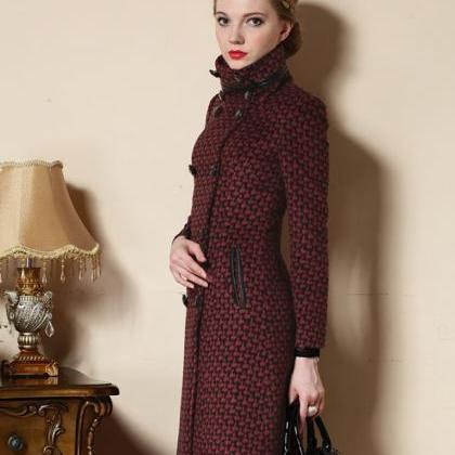 Red Trench Coats Fashion Winter Coa..
