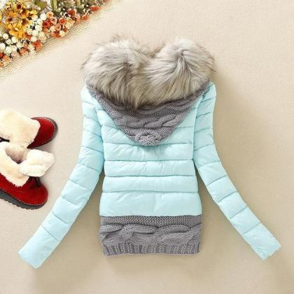 Affordable Blue Hooded Sweaters Pla..
