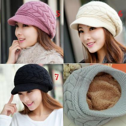 Black Hats For Women 7 Colors Slouchy Hats For Teen Girls With Brim ... e603b25e72c4