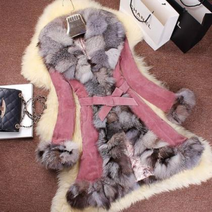 Winter Coats for Women Genuine Leat..