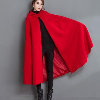 2019 New Cloaks for Women Red Trenc..