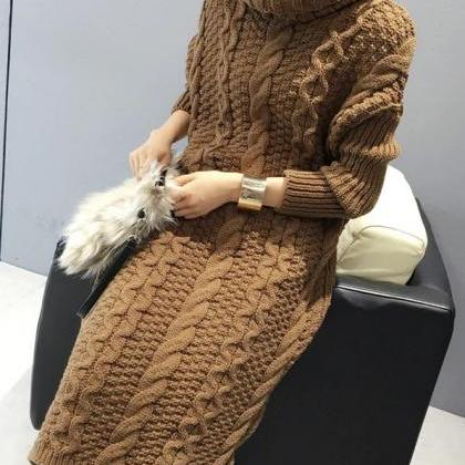 New 2019 Fashion Knitted Long Sweat..