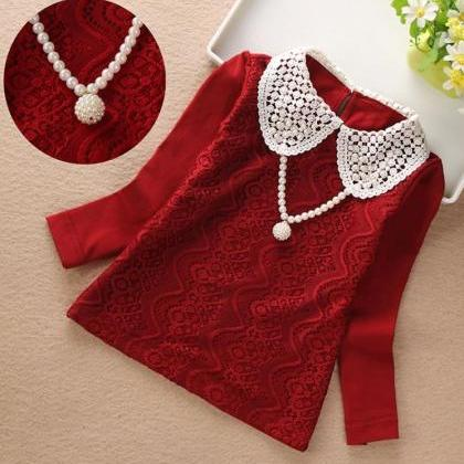 High Quality Red Wine Color Blouses..
