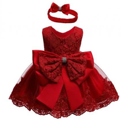 Little Princess Girls Red Dress wit..