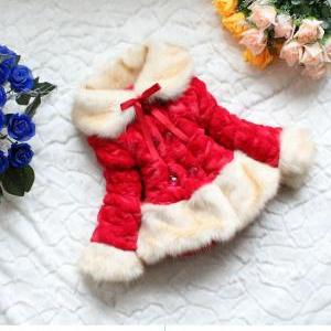 Free Shipping! Girls Red Jacket-jac..