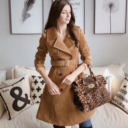 Brown Winter Wool Coats for Women i..