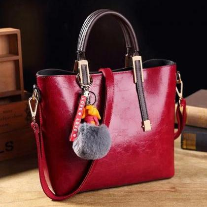 Real Leather Candy Apple Red Color ..
