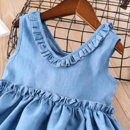 Denim Summer Green Dress for Baby G..