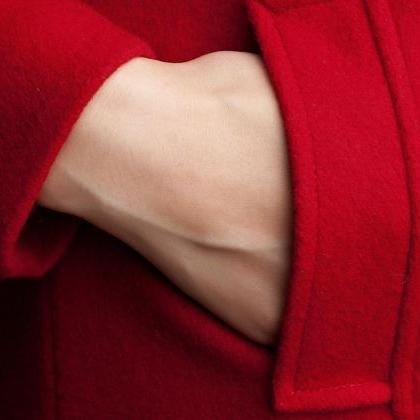 Red Trench Coats for Women Warm and..