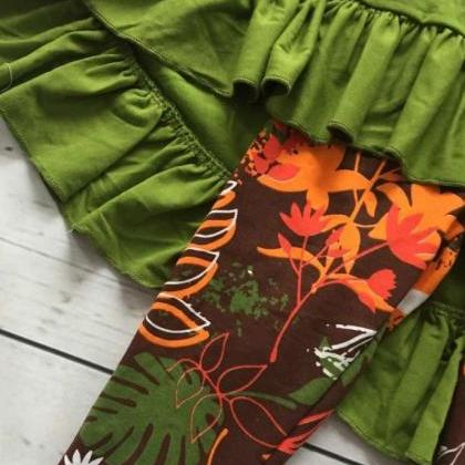 SALE Green Scarf and Green Blouse a..
