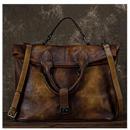 Natural Black Leather Bags for Wome..