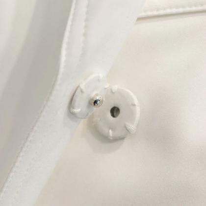 50% Off SALE! Free Brooch for White..