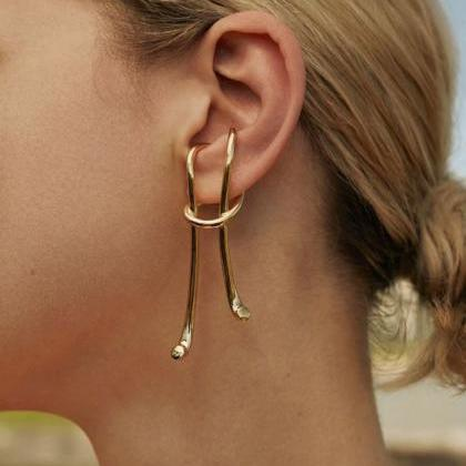 Exquisite Golden Earrings at Rudely..
