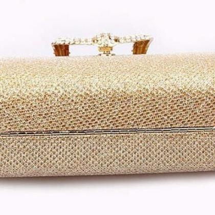 Gold Clutch Evening Purse Golden Co..