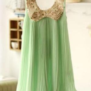 Girls Mint Green Chiffon Summer Dre..