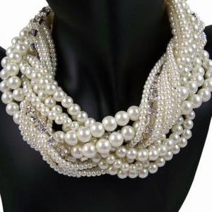 Pearl Necklace Pearl Choker Wedding..