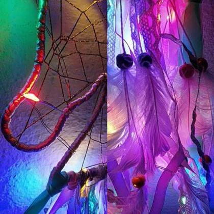 LED Lights Unicorn Dream Catcher Nu..