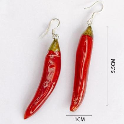 RSSLyn Red Hook Earrings Red Chili ..