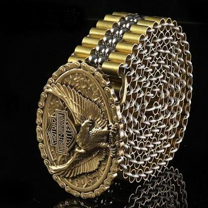 Rsslyn Luxury Belt for Men Motorcyc..
