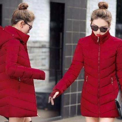 Rsslyn New Red Parka with Attached ..