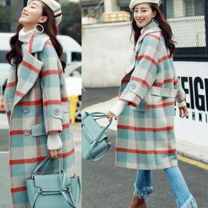 Blue Long Blazers Winter Coats for ..