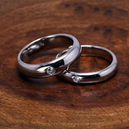Rsslyn Couples Rings Solid 2pcs/SET..