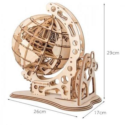 Rsslyn Rotatable 3D Globe Wooden Pu..