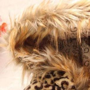 Leopard Faux Fur Jacket For 4T Girl..