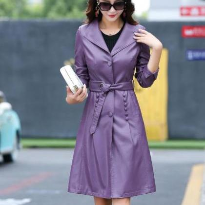 Purple Leather Coats Purple Trench ..