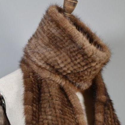 Rsslyn Real Natural Mink Fur Scarf ..