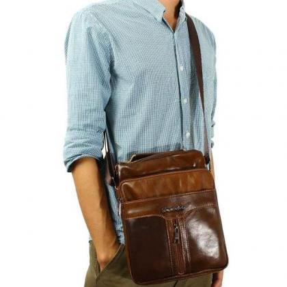 Genuine Leather Men Shoulder Bags