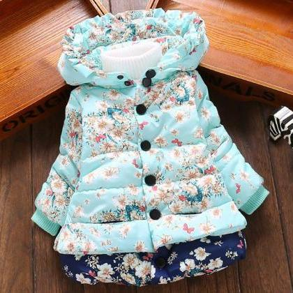 Girls Parka Floral Jacket for Girls..