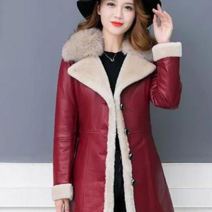Ready to Ship Sheepskin leather Tre..