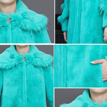 Bright Turquoise Blue Dress Coats W..