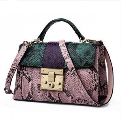 Snake Pattern Bags for Women Green ..