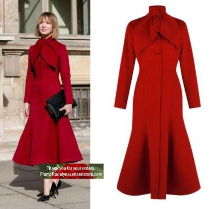 New Trendy Red Trench Coats for Wom..