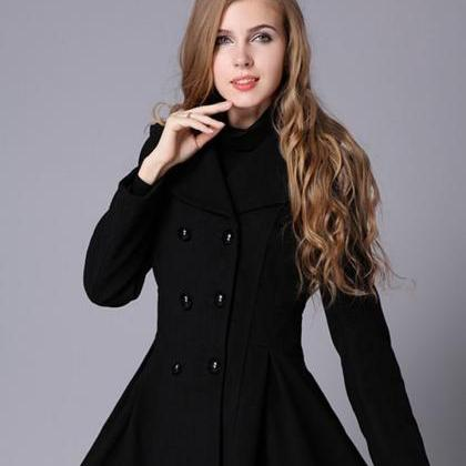 High Quality Wool Red Coat Fashion ..