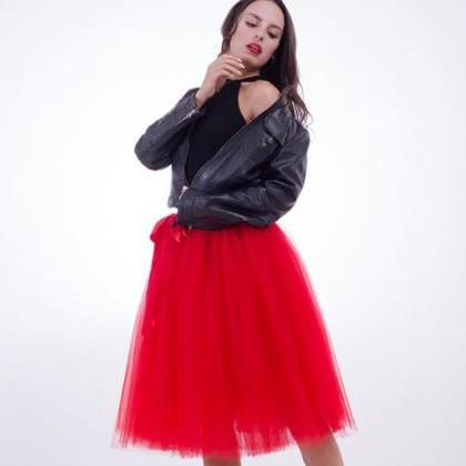 SALE Red Tutu Skirts for Women Knee..