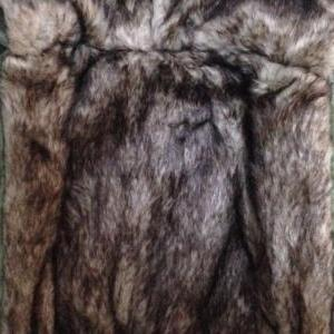 Black Parka Women with Hood Furry L..