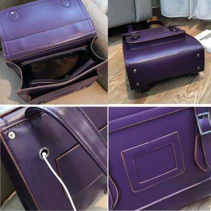Purple Backpacks for Women-Purple B..