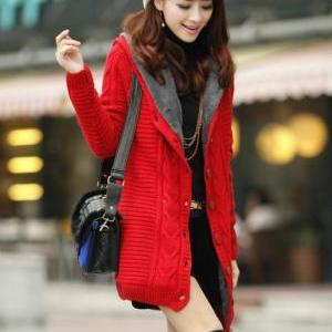 READY FOR SHIPPING RED Cardigan wit..